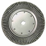 Weiler High Density Twist Knot Wire Wheel, 14 in D, .0118 in Steel, 1-1/4 in Arbor Hole