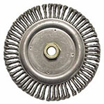 Weiler Roughneck® Stringer Bead Wheel, 7 in D x 3/16 in W, .02 in Steel Wire