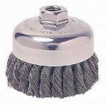 "Weiler SRA-2 General-Duty Knot Wire Cup Brush, .014, 5/8-112, 3/4"" dia"