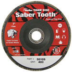 "Weiler Saber Tooth Ceramic Flap Disc, 4 1/2"", 60 Grit"