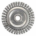 Weiler Dually Stringer Bead Wheel, 4 1/2 in D x 3/16 W, .02 Carbon Steel, 12,500 rpm