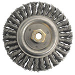 Weiler Dually Stringer Bead Wheel, 5 in D x 3/16 in W, .02 in Carbon Steel, 12,500 rpm