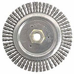 Weiler Dually Stringer Bead Wheel, 6 in D x 3/16 in W, .02 in Carbon Steel, 12,500 rpm