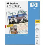 "HP Brochure And Flyer Paper - Glossy Paper - Letter A Size (8.5"" x 11 In) - 180 G/m2 - 150 Sheet(s)"