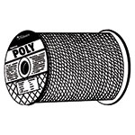 Orion Ropeworks Monofilament Twisted Poly Ropes, 1,080 lb Cap., 600 ft, Polypropylene, Yellow