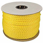 Orion Ropeworks Polypropylene Ropes, 1,632 lb Cap., 600 ft, Polypropylene, Yellow