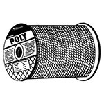 Orion Ropeworks Monofilament Twisted Poly Ropes, 3,477 lb Cap., 600 ft, Polypropylene, Yellow