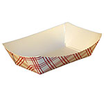SQP Food Tray #25 Red Plaid
