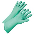 West Chester Premium 15mil Flock Lined Green Nitrile Ind.pack