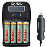 Kodak Ni-MH 1-Hour Battery Charger K6600-C+4 - Battery Charger - AA - NiMH x 4