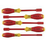 Wiha Tools 5 Piece Insulated Nut Driver Set Metric