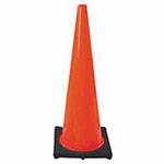 Cortina PVC Traffic Cone, 18 in, Orange