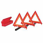 Cortina Triangle Warning Kit, 18 in, Red/Hi-Viz Orange