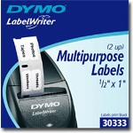 Dymo DYMO LabelWriter MultiPurpose 2-up Permanent Adhesive Labels