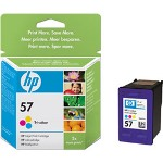 HP 57 Print Cartrid1 x Yellow, Cyan, Magenta 400 Pages