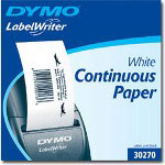 "Dymo Continuous - Receipt Paper - Black On White - Roll (2.25"" x 300') - 1 Roll(s)"