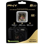 PNY Optima Flash Memory Card - 8 GB - SDHC