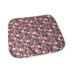 "Salk Reusable Quilted Wheelchair Pad, 18"" x 18"", Floral, 2/ P"