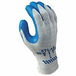 Showa Atlas Fit 300 Rubber-Coated Gloves, L, Gray/Blue
