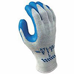 Showa Atlas Fit 300 Rubber-Coated Gloves, XL, Gray/Blue