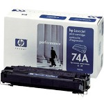 HP 92274A LaserJet 74A Toner Cartrid1 x Black 3350 Pages