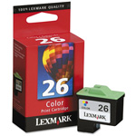 Lexmark Cartridge No. 26 - Print Cartridge - 1 x Yellow, Cyan, Magenta - 275 Pages
