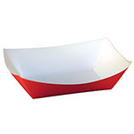 SQP Food Tray #200 Solid Red