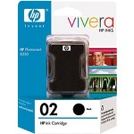 HP C8721WN#140 No. 02 Black Vivera Ink Cartridge, 660 Pages