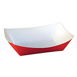 SQP Food Tray #300 Solid Red