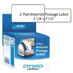 "Dymo 2-Part Internet Postage - Labels - Black On White - 2.25"" x 7.5"" - 150 Label(s)"