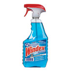 Windex Ammonia-D Glass Cleaner, 32oz Spray Bottle,12/Carton