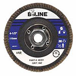 Bee Line Abrasives T27 Flap Disc, 4 1/2 in, 7/8 in Arbor, 12,000 rpm, 60 Grit, Flat