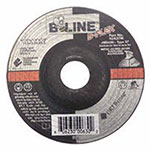 Bee Line Abrasives Flexible Depressed Center Wheel, 4 1/2in Dia, 1/8in Thick, 7/8in Arbor, 30 Grit
