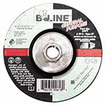 Bee Line Abrasives Depressed Center Grinding Wheel, 5in Dia, 1/4in Thick, 5/8-11in Arbor, 24 Grit