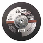 Bee Line Abrasives Depressed Center Grinding Wheel, 9in Dia, 1/4in Thick, 5/8-11in Arbor, 30 Grit