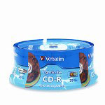 Verbatim LightScribe - 25 x CD-R - 700 MB (80min) 52X - Blue, Yellow, Red, Green, Orange - LightScribe - Spindle - Storage Media