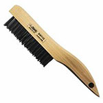 Eagle Brush Hand Scratch Brushes, 4 x 16 Rows, Steel Wire, Shoe Wood Handle