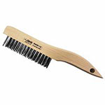 Eagle Brush Hand Scratch Brushes, 3 x 7 Rows, Steel Wire, Toothbrush Wood Handle