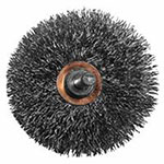 Eagle Brush Crimped Wire Wheel Brush, 3 in D, .014 in Stainless Steel Wire