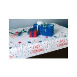"Little Rapids 91-0240 Poinsettia Paper Table Covers, 40"" x 150"""