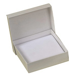 "BOXit White Jewelry Box w/Cotton Insert, 3-1/6"" x 2-1/8"" x 1"""