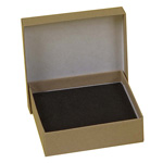 "BOXit Kraft Jewelry Box w/Cotton Insert, 3-1/6"" x 2-1/8"" x 1"""