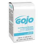 Gojo 9126-12 Lather & Klean Body & Hair Shampoo Refills, 800 mL