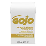 Gojo Gold & Klean Lotion Soap Bag-in-Box Dispenser Refill, Floral Balsam, 800mL