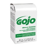 Gojo MULTI GREEN Hand Cleaner 800mL Bag-in-Box Dispenser Refill, 12/Carton