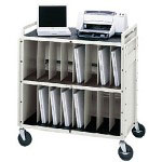 Bretford Basics Notebook Storage Cart LAPTG15SA-GM - notebook storage cart