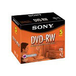 Sony DMW 47L2 - DVD-RW X 5 - 4.7 GB - Storage Media