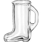 Libbey 97038 1.5 Ounce Plain Boot Shot Glass