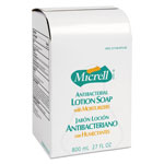 Gojo Micrell Antibacterial Lotion Soap Refills, 800 mL, Case of 12
