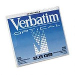 Verbatim 5.25 MO 4X Capacity - MO X 1 - 2.6 GB - Storage Media